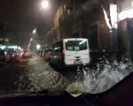 Maltempo e strade allagate, bomba d'acqua a Catania